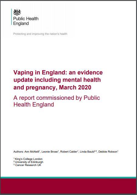 Raport opublikowany 4 marca 2020r., przez Public Health England.